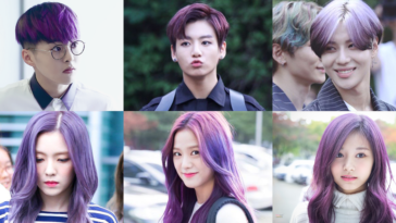kpop idols purple hair